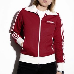 Adidas Red Vintage Zip-Up Track Jacket M